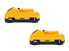 CLEARANCE - DeWalt 20V MAX Battery - 3.0 Ah (2 Pack)