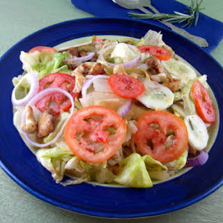 Chicken Salad with Lettuce and Tomato.