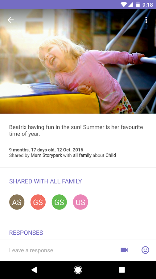 Storypark for Families- screenshot