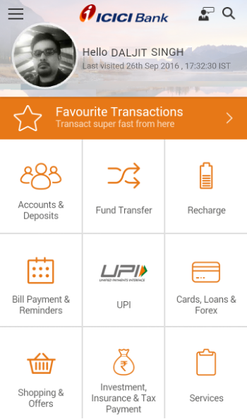 Screenshots of ICICI Mobile Banking - iMobile for iPhone