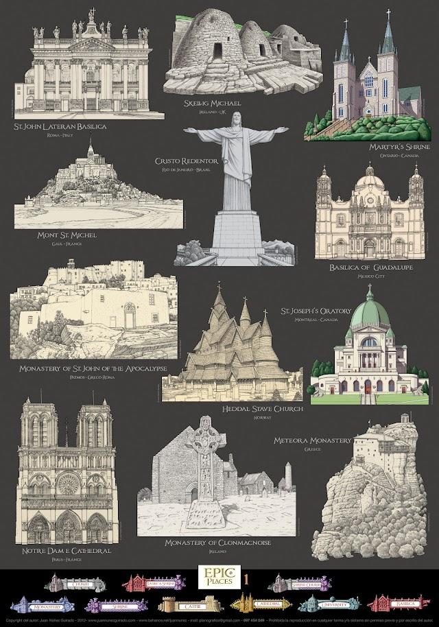 Monumentos del mundo que realiza Juan Núñez, un encargo internacional.