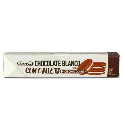 chocolate artekao chocolate blanco con galleta 35gr
