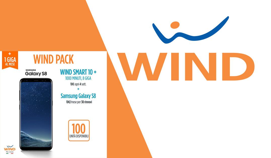 Offerta Wind: Galaxy S8 a 10€ con Smart 10+ (1000 minuti e 8 Giga)