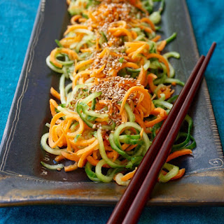 Cucumber Carrot Salad with Sesame Seeds.