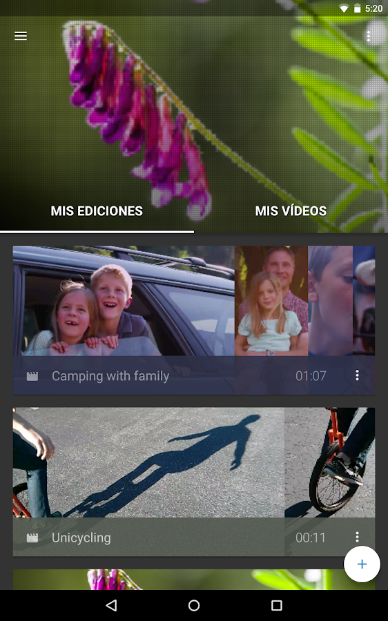 WeVideo – Editor de video: captura de pantalla