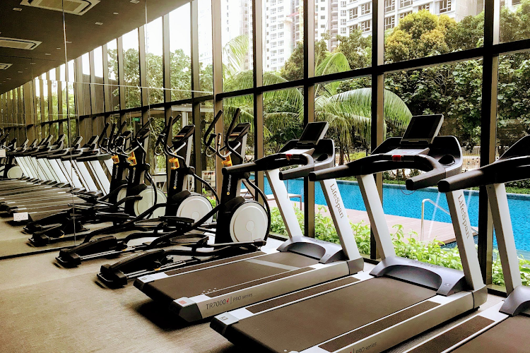Gym at Commonwealth Ave Residences