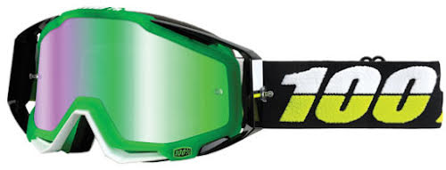 100% RaceCraft Goggle, Simbad (Mirror Green Lens)