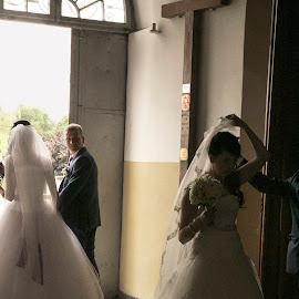 Wedding at the  Cathedral Church in Grodno. by Marianne Korbout - Wedding Bride & Groom (  )
