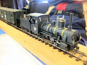 Photo: 006 A very atmospheric and distinctly Eastern European 0-6-0 tender loco from Steve Bagley's 0-16.5 Ruritanian State Railway .
