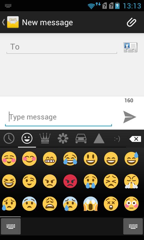 emoji keyboard color emoji screenshot - How To Change Samsung Keyboard Color