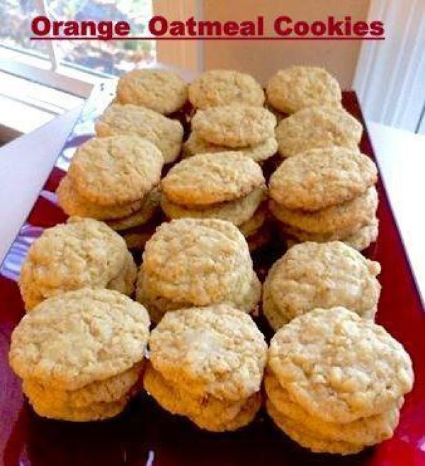 Orange Oatmeal Cookies Recipe