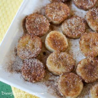 Pan Fried Cinnamon Bananas.