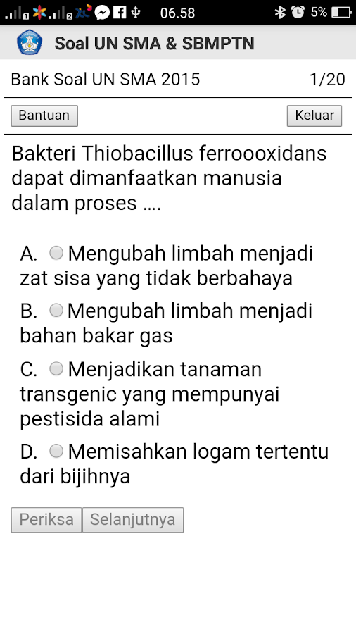 Soal Un Sma Dan Sbmptn Unbk Android Apps On Google Play