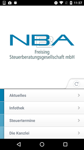 android N B A Freising Steuer App Screenshot 0