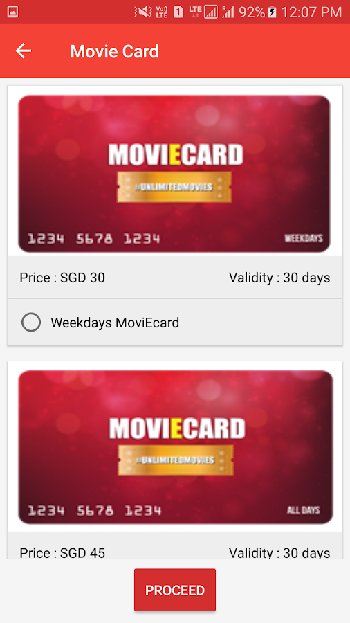 Carnival Cinemas Singapore- screenshot