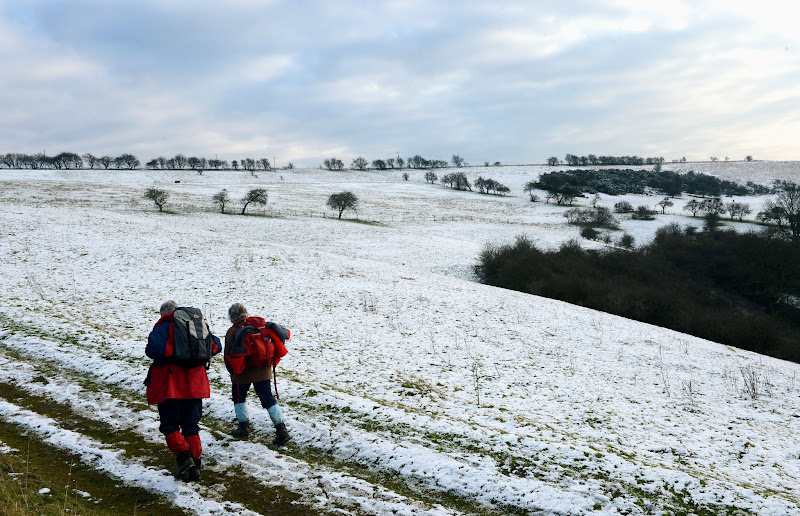 Photo: Snow on the high ground of the Yorkshire Wolds at Millington Pastures, near Pocklington, gives walkers a taste of the winter weather and snow that is forecast to effect many areas of the UK in coming days. PRESS ASSOCIATION Photo. Picture date: Sunday January 13, 2013. See PA story WEATHER Snow. Photo credit should read: John Giles/PA Wire