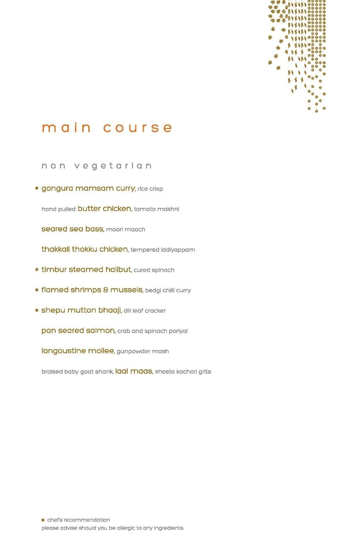Masala Library menu 9
