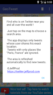 GeoTweet- screenshot thumbnail