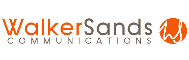walker sands communications logo transparent orange dark grey