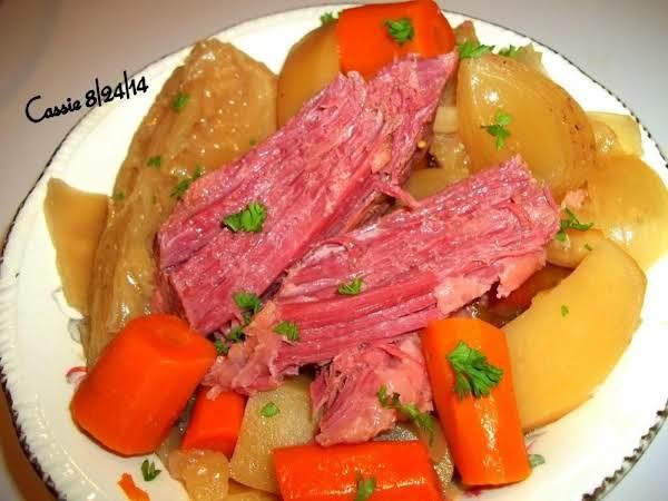 Simple Corned Beef & Cabbage - Crock Pot Tender Recipe