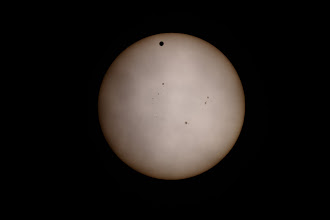 Photo: Venus and sun spots on the day of ToV...