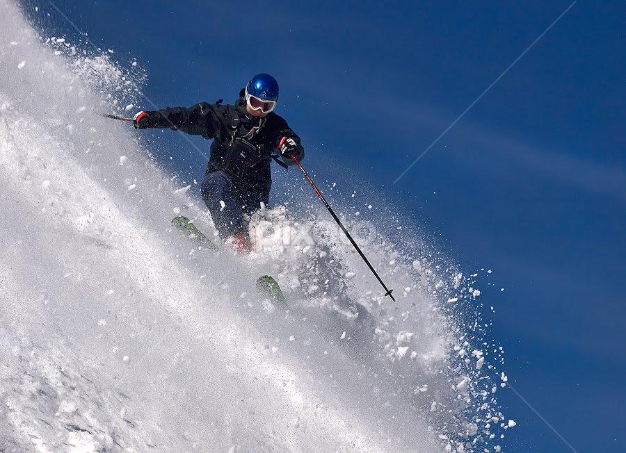 Powderhunter by Aleš Komovec - Sports & Fitness Snow Sports ( skiing, winter, snow, mountaineering, sport, turn skiing )