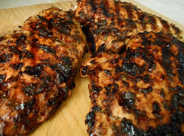 Cook chicken and veggies on outside or inside grill.  Spray tortilla's on both...
