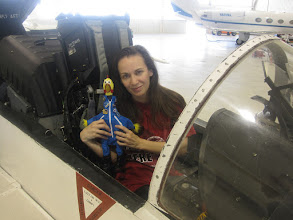 Photo: With Camilla Corona in the cockpit of an FA-18 Super Hornet!  One of life's OMG moments! :)