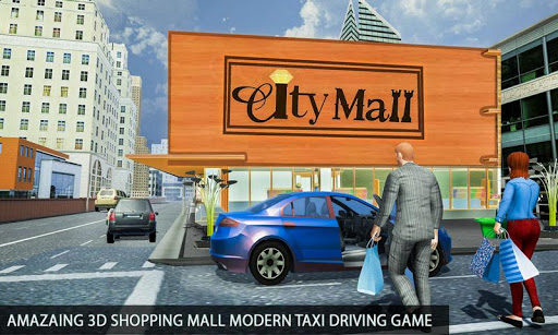 Shopping Mall Radio Taxi: Car Driving Taxi Games apkslow screenshots 7