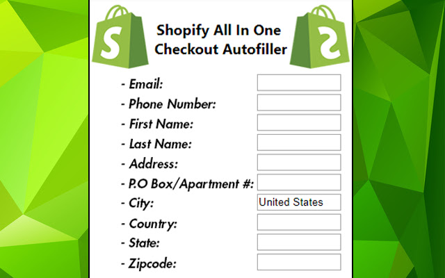 Shopify Autofiller
