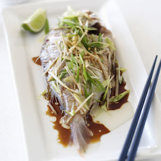 Whole Snapper in Soy Ginger Glaze.
