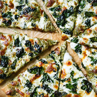 Kale Pesto Pizza.