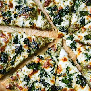 Kale Pesto Pizza.