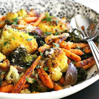 Garlic Parmesan Roasted Vegetables.