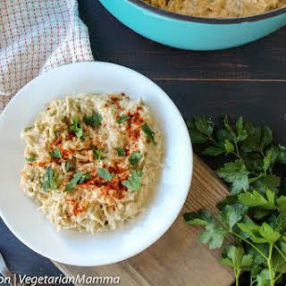 Roasted Cauliflower Alfredo Spaghetti.
