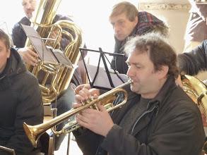 Photo: Der Trompeter beim perfekten Zapfenstreich