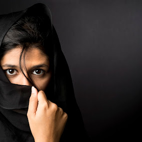 Face of young girl by Sarvesh Rajpathak - People Portraits of Women