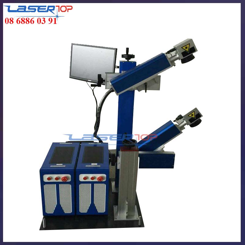 Máy khắc laser kim loại 2 đầu
