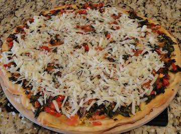 Spicy Spinach pizza