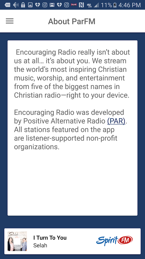 Encouraging Radio- screenshot