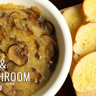 Crock Pot Creamy Mushroom and Brie Soup.
