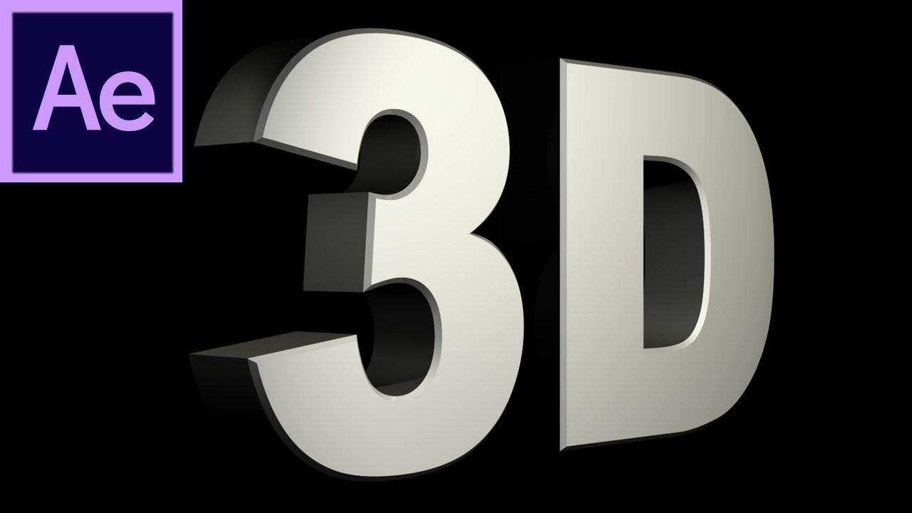 Hiệu ứng 3D là một hiệu ứng khá đơn giản trong After Effect