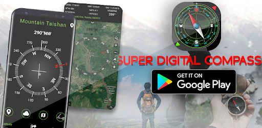 Smart compass is a navigational instrument which shows four cardinal directions