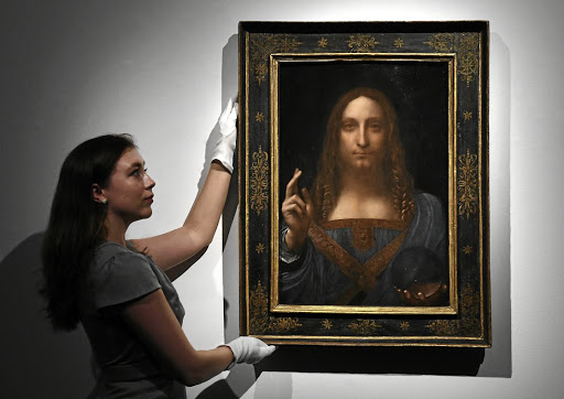 Art of the deal: Leonardo da Vinci's Salvator Mundi was sold for $450m at Christie's in New York in November 2017. Picture: SUPPLIED