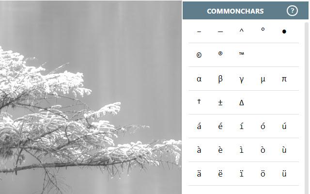 CommonChars