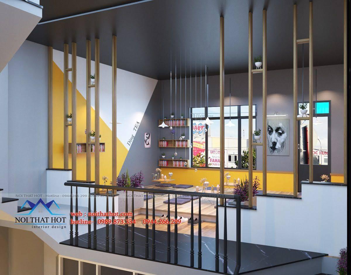 thiết kế quán trà sữa 10