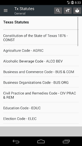 Texas All Statutes 2018 (free offline) 0.08 screenshots 2
