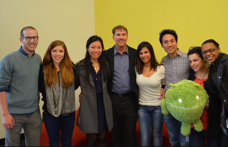 Photo: Nicholas Sparks and the Google Play team!