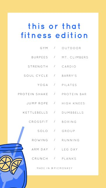 This or That Fitness - Facebook Story Template