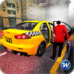 City Taxi Car Driving Adventure Icon